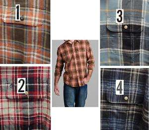 Timberland Mens Plaid Flannel LS Shirt XL 2XL NEW