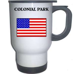 US Flag   Colonial Park, Pennsylvania (PA) White Stainless