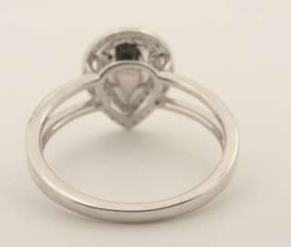 03 CT Pear Shaped DIAMOND 14K Gold ENGAGEMENT RING