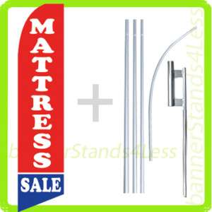 Feather Flutter Banner Sign Flag kit MATTRESS SALE b4
