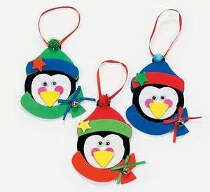 Penguin Foam Ornaments Craft Kit Christmas Gift Kid