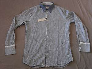 DIESEL MENS OXFORD BLUE WHITE STRIPED L/S SHIRT XL NEW