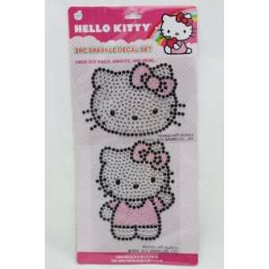 Licensed Hello Kitty 2 Pcs. Sparkle Decal Set   Great for