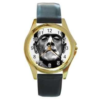 BORIS KARLOFF FRANKENSTEIN Round Gold Wrist Watch Weme