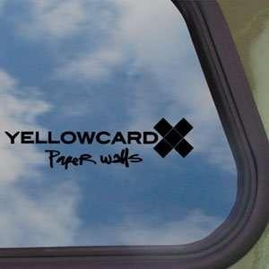 Yellowcard Paper Walls Frontal Black Decal Rock Band