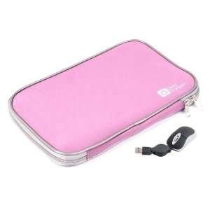 DURAGADGET Pink 17 Neoprene Laptop Zip Case With USB Mini