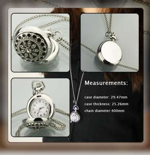 NEW LADIES WOMENS FASHION STYLE POCKET WATCH CHAIN GIFT