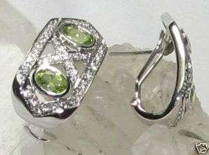 Hugs & Kisses Peridot Earrings 925 SS FREE GIFT