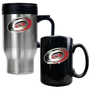 Carolina Hurricanes NHL Stainless Steel Travel Mug & Black