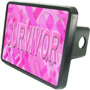 Breast Cancer   Survivor Custom Hitch Plug for 1 1/4 receiver from