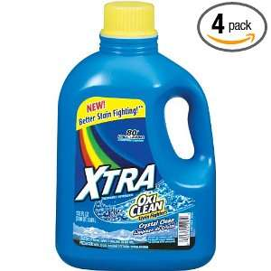 Xtra Liquid Laundry Plus Oxiclean Concentrate, 125 Ounce
