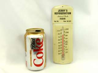 FRIGIDAIRE Vintage REFRIGERATION Thermometer Metal Advertise Sign