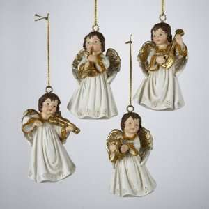 Pack of 12 Gold and White Angel Christmas Ornaments with