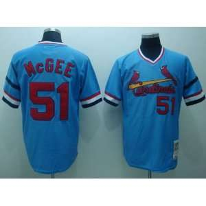 Willie Mcgee Blue 51 Throwback St. Louis Cardinals Jersey