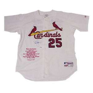 Mark McGwire St. Louis Cardinals Autographed Embroidered