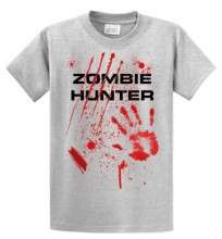 Zombie Hunter T shirt Funny Zombies Tee