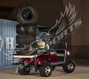Yamaha G22 Golf Cart Rear Flip Flop Seat Kit & Cargo Bed Deck Ivory