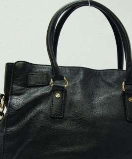Kors Black Gold Hardware Large Hamilton Tote Purse Handbag $348 O01