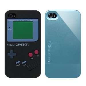 2pcs Set Nintendo Game Boy Silicone Case Black + KoreTech
