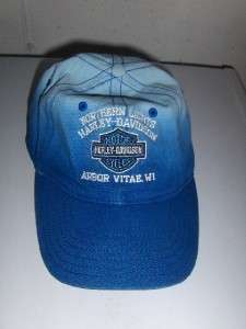 NORTHERN LIGHTS HARLEY DAVIDSON BALL CAP HAT ARBOR VITA WI