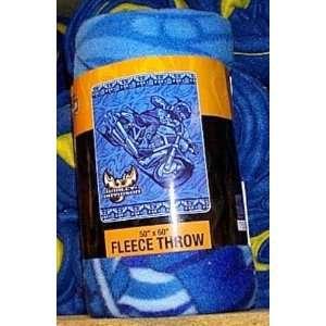 Harley Davidson Blue Rider Lightweight Fleece Throw