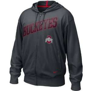 Nike Ohio State Buckeyes Black Off Campus Full Zip Hoody