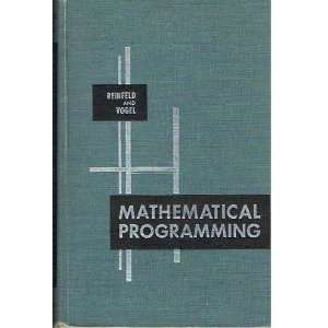 Mathematical Programming Nyles V. And Vogel, William R