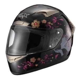GLX Helmets Whisper Black X Small Full Face Motorcycle