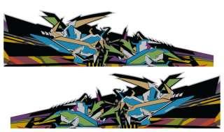 Custom Die Cut RC Car Truck Drift Decal   Graffiti Styl