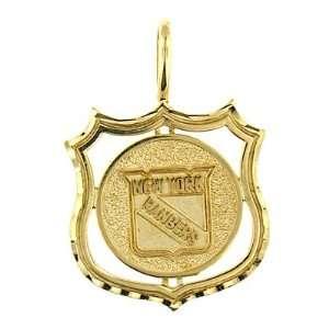 14 K Yellow Gold New York Rangers Charm Jewelry