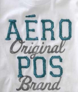 NWT AEROPOSTALE Aero Logo Graphic Tee t shirt AQUA XL