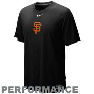 Nike San Francisco Giants Black Team Issue Legend Logo Performance T