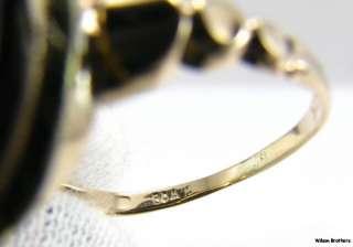 PI RING   10k Yellow Gold Onyx Vintage fraternity Greek Society