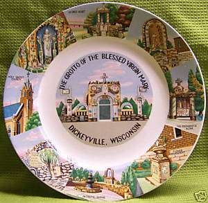 Grotto of the Blessed Virgin Mary Plate Dickeyville WI