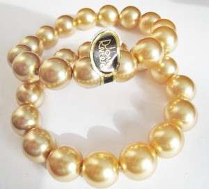 Joan Rivers Two Gold Tone Stretch Bracelet