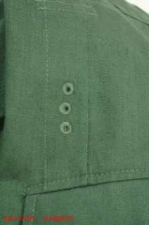 WWII German M43 heer summer HBT reed green field tunic 46R