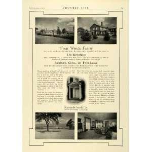1926 Ad Kenneh Ives Berkshires Four Wind Farm Salisbury