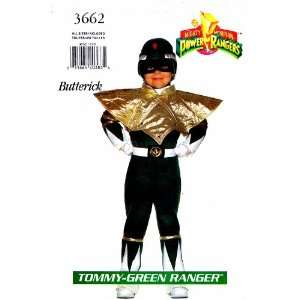 Butterick 3662 Sewing Pattern Tommy Green Power Ranger