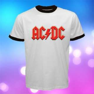 NEW AC* DC HARD ROCK LOGO Men T shirt size S to 3XL