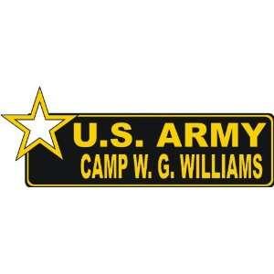 United States Army Camp W.G. Williams Bumper Sticker Decal