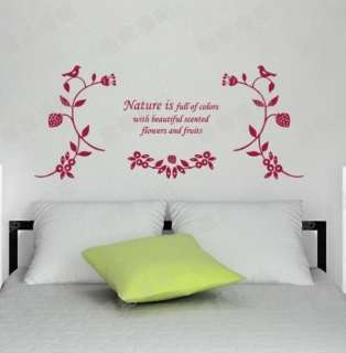 various colors) Harmony Decor Mural Art Wall Sticker Decal Y368