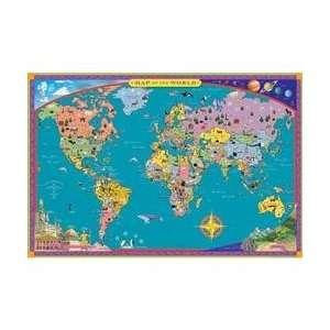Eeboo World Map Toys & Games