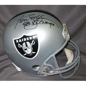 Ken Stabler Signed Raiders Full Size Replica Helmet   SB