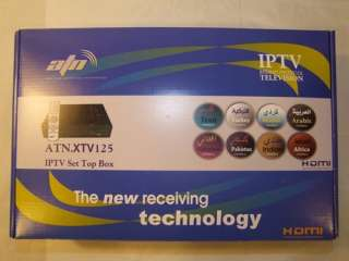 ATN Network Arabic IPTV Over 700 Channels Set top Box & 3 m