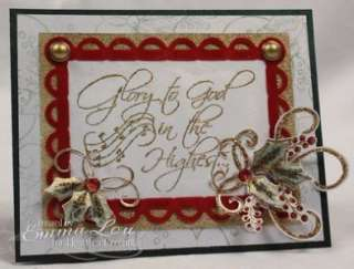 Heartfelt Creations Christmas Cling Rubber Stamp Set Elegant Holly