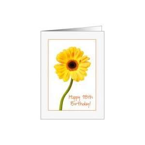 Happy 18th Birthday   Yellow Gerbera Card: Toys & Games