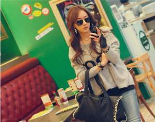 FASHION ON MOON CASUAL BATWING SLEEVE LETTER PATTERN JUMPER PULLOVER