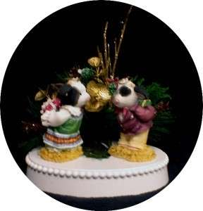 Mary Moo County Western cow Wedding Cake Topper Winter Chritsmas groom