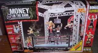 WWF WWE WRESTLING RING MONEY IN THE BANK + JEFF HARDY & MR KENNEDY
