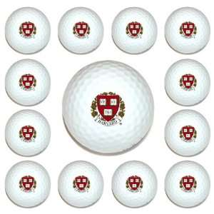 Harvard Crimson Team Logo Golf Ball Dozen Pack   Golf
